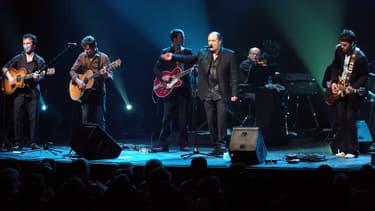 Michel Delpech lors d'un concert au Bataclan, en février 2005.