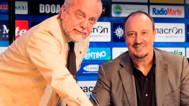 Aurelio De Laurentiis avec Rafael Benitez