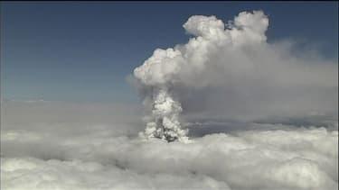 Le Mont Ontake en éruption