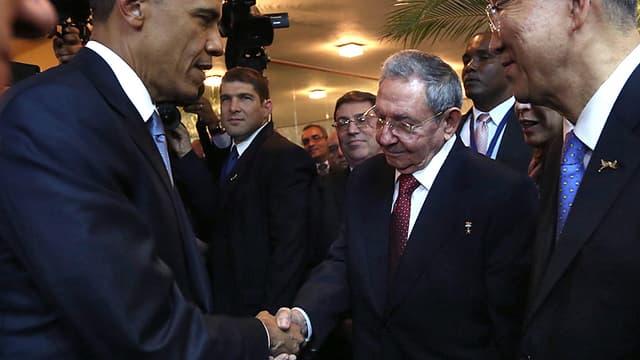 Barack Obama et Raul Castro se rencontrent au palais de la Révolution de La Havane - Lundi 21 mars 2016