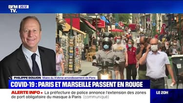 """Covid-19: le maire du 15e arrondissement de Paris estime qu'il faut """"aller plus loin qu'imposer le port du masque dans quelques rues"""""""