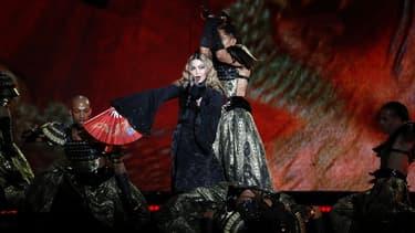 Madonna en concert à Paris, le 9 décembre 2015