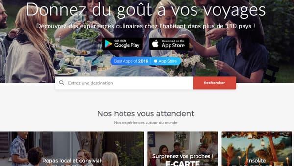 Capture d'écran du site VizEat