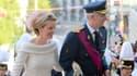 Le futur roi, Philippe 1er et la future reine Mathilde.