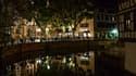 Le centre ville de Strasbourg, de nuit.