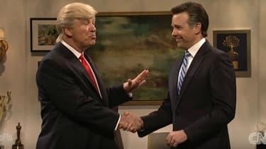 """Alec Baldwin dans la peau de Donald Trump pour le """"Saturday Night Live"""""""