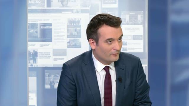 Florian Philippot ce jeudi soir sur BFMTV.