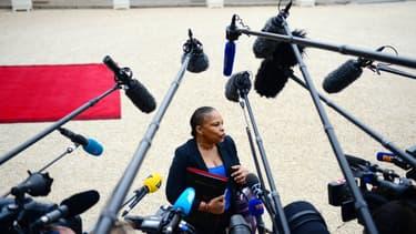 Christiane Taubira à la sortie du conseil des ministres en 2013.