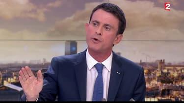 Manuel Valls sur France 2, lundi 14 décembre.