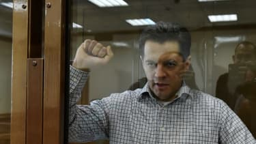 Le journaliste ukrainien Roman Souchtchenko lors de son procès dans un tribunal de MOscou, le 4 juin 2018