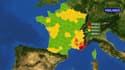 La carte des vigilances instaurées par Météo France ce dimanche matin