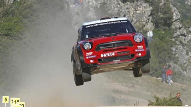 La Mini version WRC sur le rallye de Sardaigne en 2011