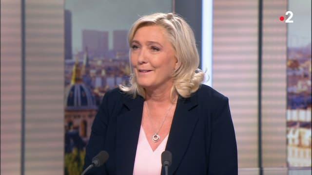Marine Le Pen était l'invitée du journal de 20 heures de France 2 lundi 27 septembre 2021.
