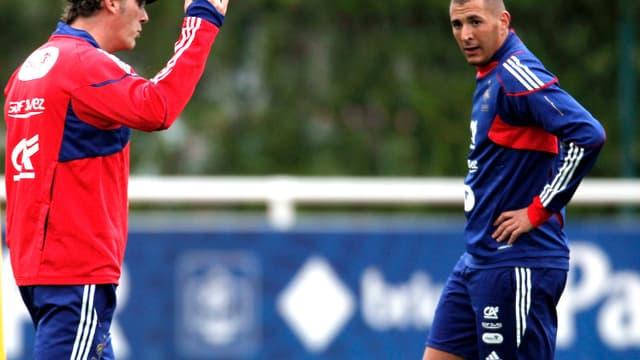 Laurent Blanc et Karim Benzema