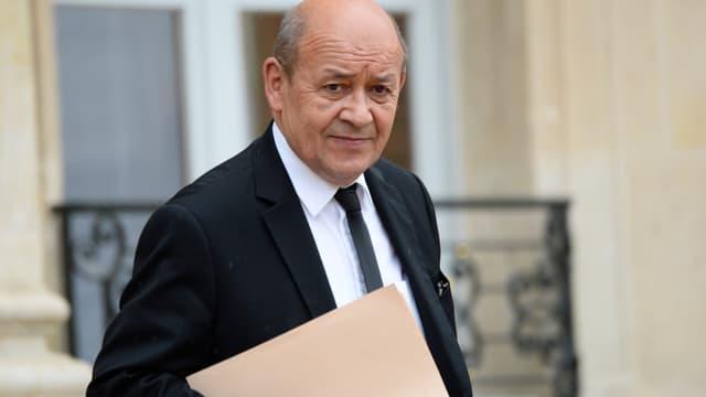 Jean-Yves Le Drian à l'Élysée (Photo d'illustration)