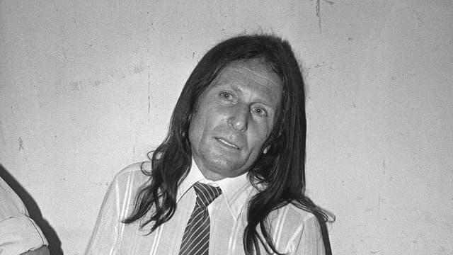 Joseph-Thomas Recco alias Tommy Recco, lors de son procès en juin 1983, au palais de justice de Draguignan (Var)