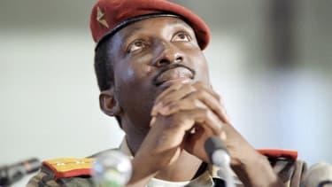 L'ex-président burkinabé Thomas Sankara, en septembre 1986.