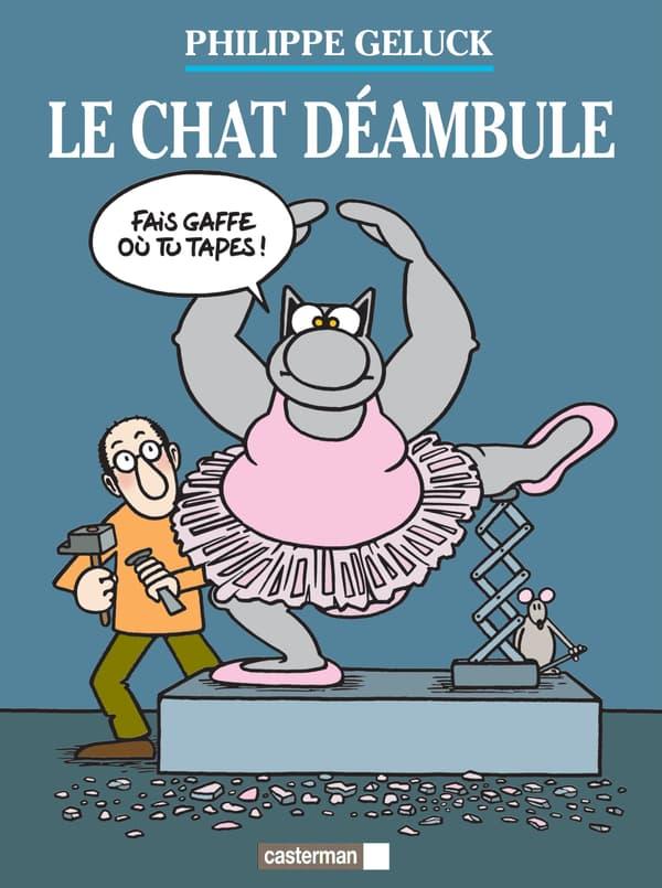 """Couverture du catalogue de l'exposition """"Le Chat déambule"""" de Philippe Geluck"""
