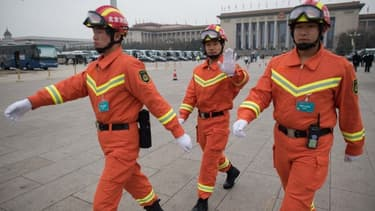 Des pompiers chinois - Image d'illustration