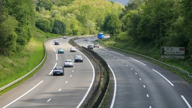 L'autoroute A63. (illustration)