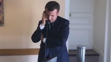 Emmanuel Macron s'est entretenu avec des citoyens.