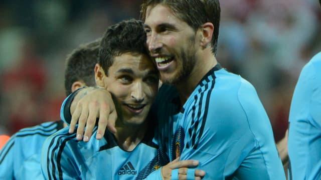 Jesus Navas et Sergio Ramos