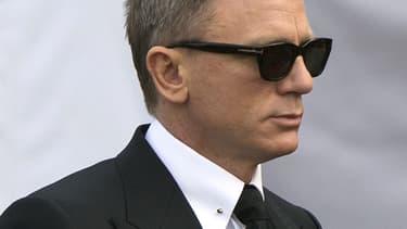 """Daniel Craig sur le tournage du 24e James Bond, """"007 Spectre"""", à Rome, en février 2015."""