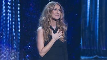 Céline Dion sur la scène de Las Vegas en décembre 2015