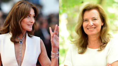 Carla Bruni-Sarkozy et Valérie Trierweiler