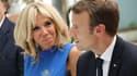 Brigitte et Emmanuel Macron le 8 septembre 2017 à Athènes.