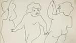 """""""Fairies"""", un dessin d'Andy Warhol daté de 1954."""