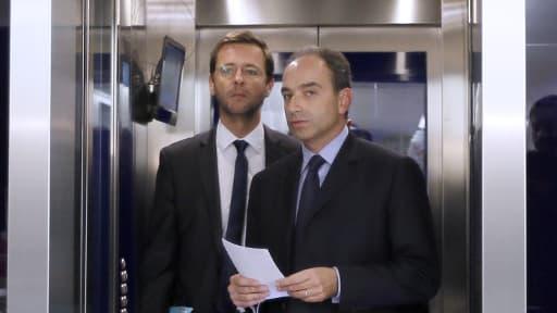 Jean-François Copé et Jérôme Lavrilleux en décembre 2012 au siège de l'UMP