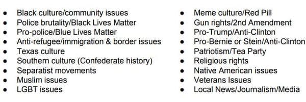 Les thèmes de prédilection de l'IRA.