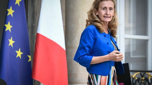 La garde des Sceaux Nicole Belloubet, le 31 août 2018 à l'Elysée à Paris.