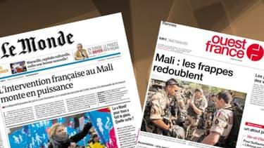 Beaucoup de journaux consacrent leur une au Mali.