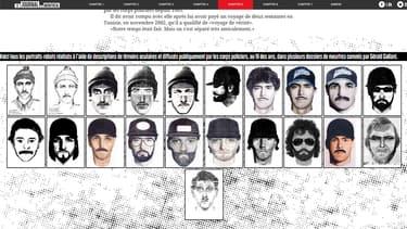 Gérald Gaillant, tueur à gages québécois, a fait l'objet de 21 portraits-robots.