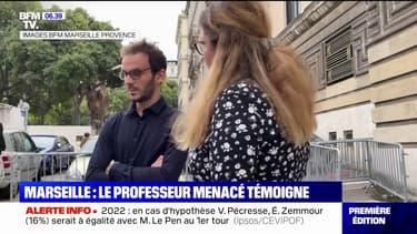 Marseille: le professeur menacé par courriers, avec une photo de Samuel Paty, témoigne encore sous le choc