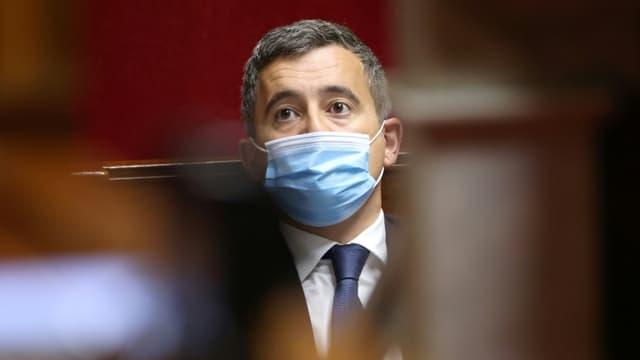 Le ministre de l'Intérieur Gérald Darmanin le 18 mai 2021 à l'Assemblée nationale à Paris
