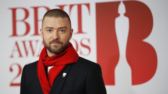 Justin Timberlake aux Brit Awards, le 21 février 2018