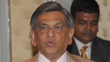 """Somanahalli Mallaiah Krishna, le ministre indien des Affaires étrangères, ici à Barheïn en 2011, estime paradoxalement que le dossier est """"bien avancé"""""""