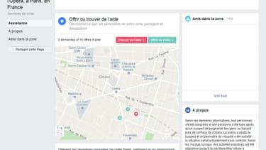 """Peu de temps après l'attaque au couteau revendiquée par Daesh ce samedi soir à Paris, Facebook a activé son service """"safety check"""""""