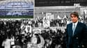 OM : En marge de la cérémonie d'hommage, Tapie est scandé par les fans devant la Vélodrome
