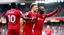 Sadio Mané, Diogo Jota et Naby Keita lors de Liverpool-Burnley