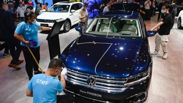 Le stand Volkswagen au salon de Pékin cette semaine.