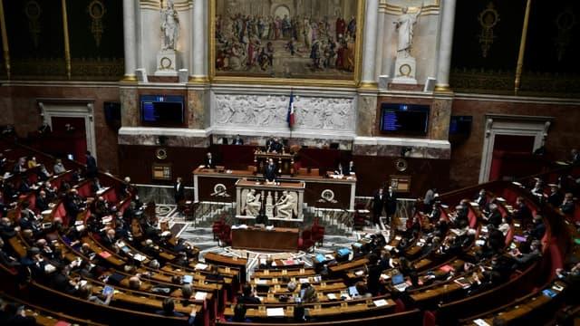 L'Assemblée nationale à Paris le 13 avril 2021 (image d'illustration)
