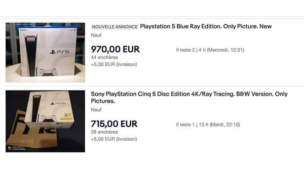 Annonces de photos de PlayStation 5 sur eBay