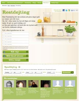 L'interface du site Restdejting