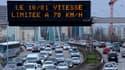 Lors des épisodes de pollution les plus graves, la vitesse de circulation est ralentie.