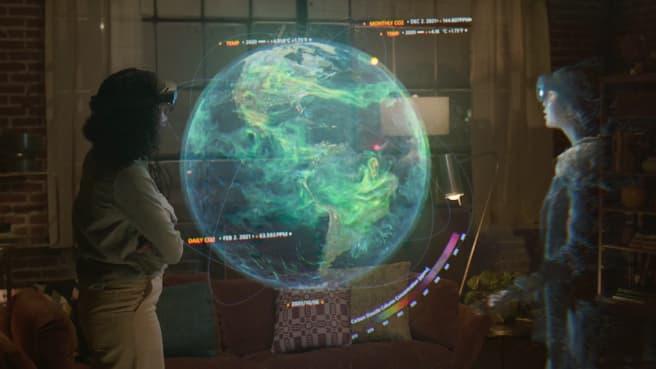 Microsoft imagine des réunions avec les hologrammes de collègues