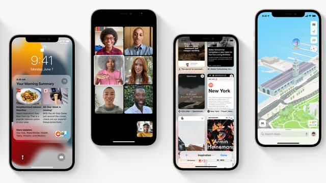 Capture d'écran d'iOS 15